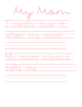 Mother's Day Handwriting Sheet