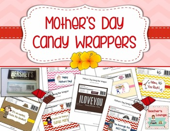 Mother's Day Printable Candy Bar Wrappers