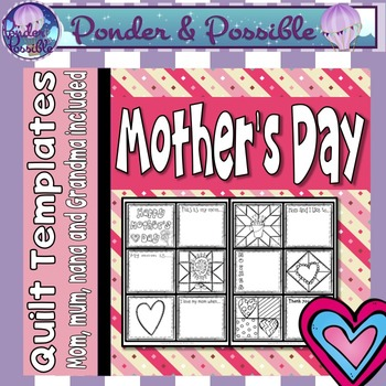 Mother's Day Quilt ~ Mom, Mum, Grandma and more