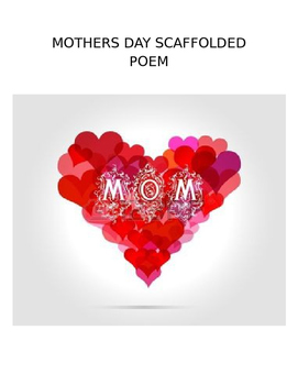 Mother's Day Scaffolded Poem - Feeling exercise, Art Project