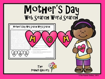 Mother's Day Web Search Word Search