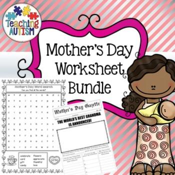 Mother's Day Worksheet Bundle