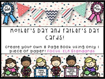 Mother's Day and Father's Day Cards- Common Core Aligned with ELA