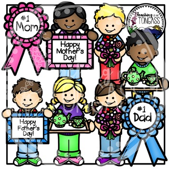 Mother's Day Clipart and Father's Day Clipart Bundle