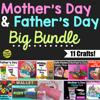 Mother's Day and Father's Day Crafts - Big Bundle of 6 Gifts