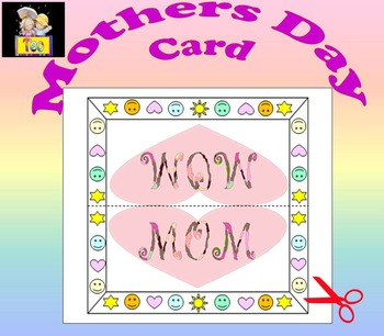 Mothers Day Card - Craft - Personal or commercial use