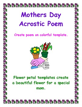 Mothers Day Acrostic Poem Template