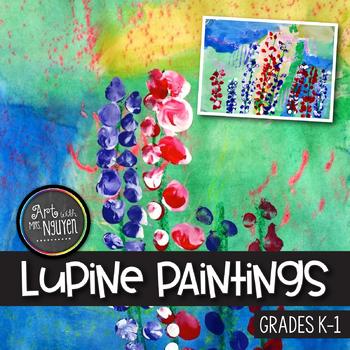 Art Lesson: Kindergarten Lupine Painting