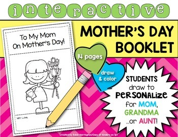 Mother's Day Booklet {Interactive and Personalized} Kinder