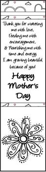 Mother's Day Bookmark Freebie Gift