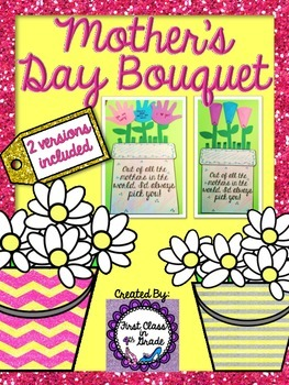 Mother's Day Bouquet with Personalized Notes (2 Versions/T