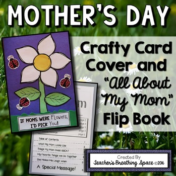 "Mother's Day Card - ""All About My Mom"" Flip Book Card Insert"