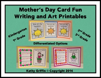 Mother's Day Card Fun Writing and Art Printables