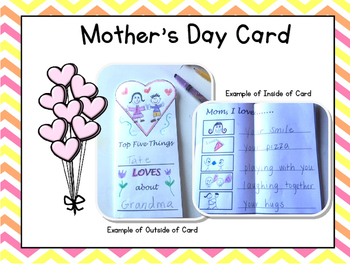 Mother's Day Card & Mom Mini Write