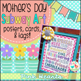 Mother's Day Card - Pink Heart Subway Art