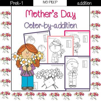 Mother's Day color by code {addition}