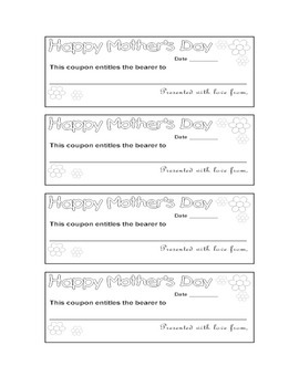 Mother's Day Coupons for Students