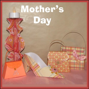 Mother's Day Craft - 3 Purses, Shoe and Candlestick Holder