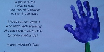 Mother's Day Craft with Poem