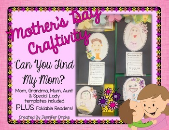 Mother's Day Craftivity & Foldable Reader ~Can You Find My