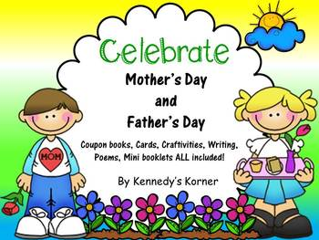 Mother's Day AND Father's Day Bundle~Craftivity, Cards, Co