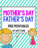 Mother's Day & Father's Day SUPER Writing Printables {Bundle}