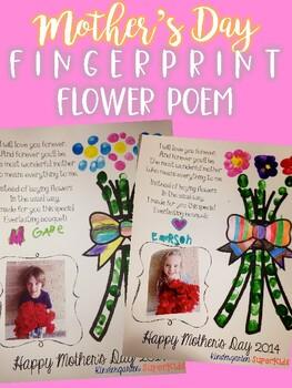 Mother's Day Fingerprint Flower Poem