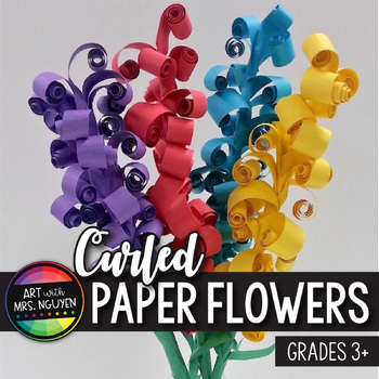 Art Lesson: Curled Paper Flower Sculpture