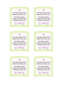 Mothers Day Flower Poem Printable