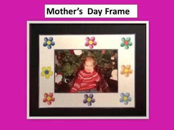 Mother's Day Frame Pattern 4X6