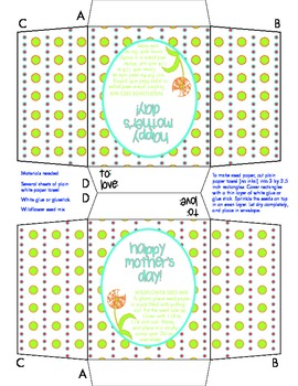 Mother's Day Gift Activity- Wildflower Seed Packet