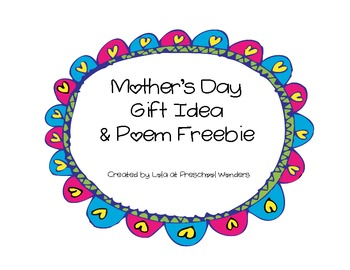 Mother's Day Gift Idea & Poem {Freebie}