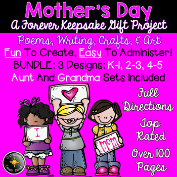 Mother's Day Gift! K-6! Three Sets Included! Writing, Poet