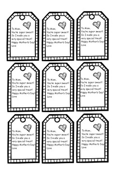 Mothers Day Gift Tags