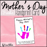 Mother's Day Handprint Card Freebie