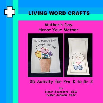 Mother's Day Honor Your Mother Pop-up card for Pre-K to Gr. 3
