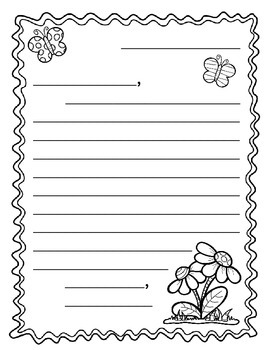 Mother's Day Letter Writing Stationery