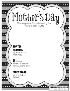 Mother's Day Magazine Cover