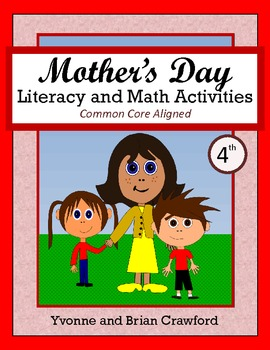 Mother's Day No Prep Math and Literacy Activities Fourth G