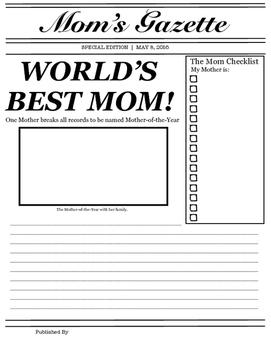 FREEBIE!!! Mother's Day Newspaper