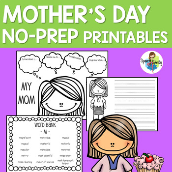 Mother's Day NO PREP Printables
