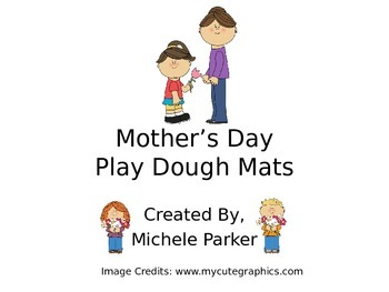 Mother's Day Play Dough Mat/Play-Doh/Playdough FREEBIE