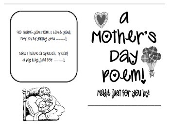 Mother's Day Poetry Book