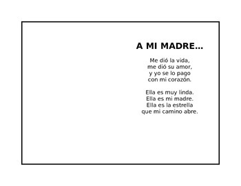 Mother's Day Poem - Spanish