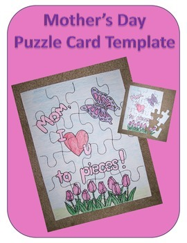 Mother's Day Puzzle Card Template