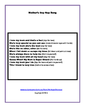 Mother's Day Rap Song