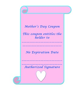 Mother's Day Scroll