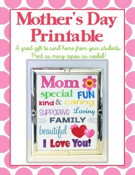 "Mother's Day ""Subway Art"" Printable FREEBIE:  Makes a GREA"