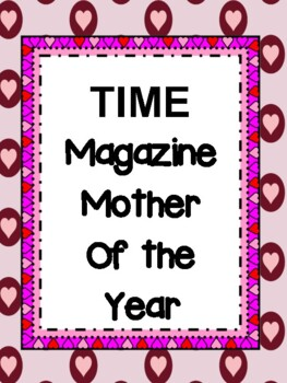 Mother's Day TIME Magazine Writing Craftivity