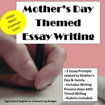Mother's Day Theme Essay Writing, w Rubrics & Writing Proc